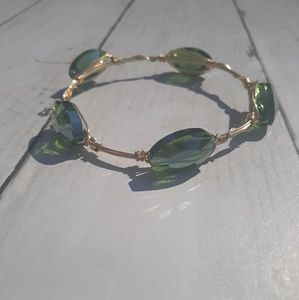 Jewelry - Green Stone Bangle